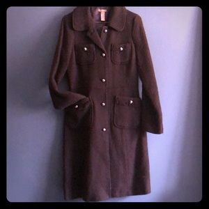 Jackets & Blazers - Fitted brown woven coat
